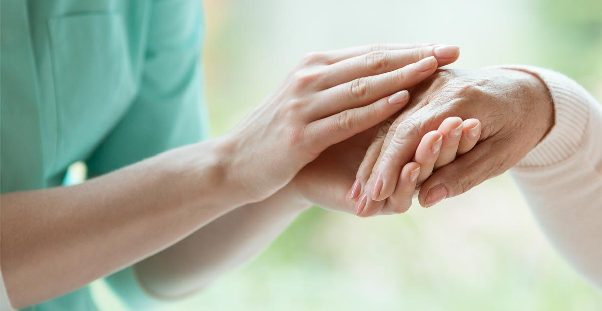 What is Hospice - holding hands