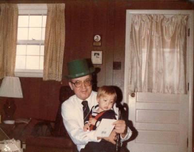 Eddie with Grandson
