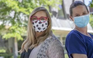 Heidi Young, bereavement coordinator, and Lori Henry, certified nursing assistant